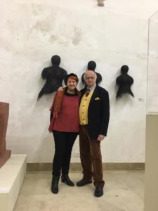 EX CONVENTO SAN FRANCESCO D'ASSISI, Siracusa 2019 - Anna Santinello e il curatore Vincenzo Sanfo